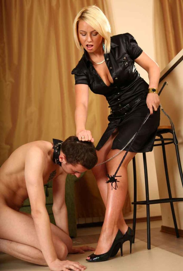 a mistress being aggressive