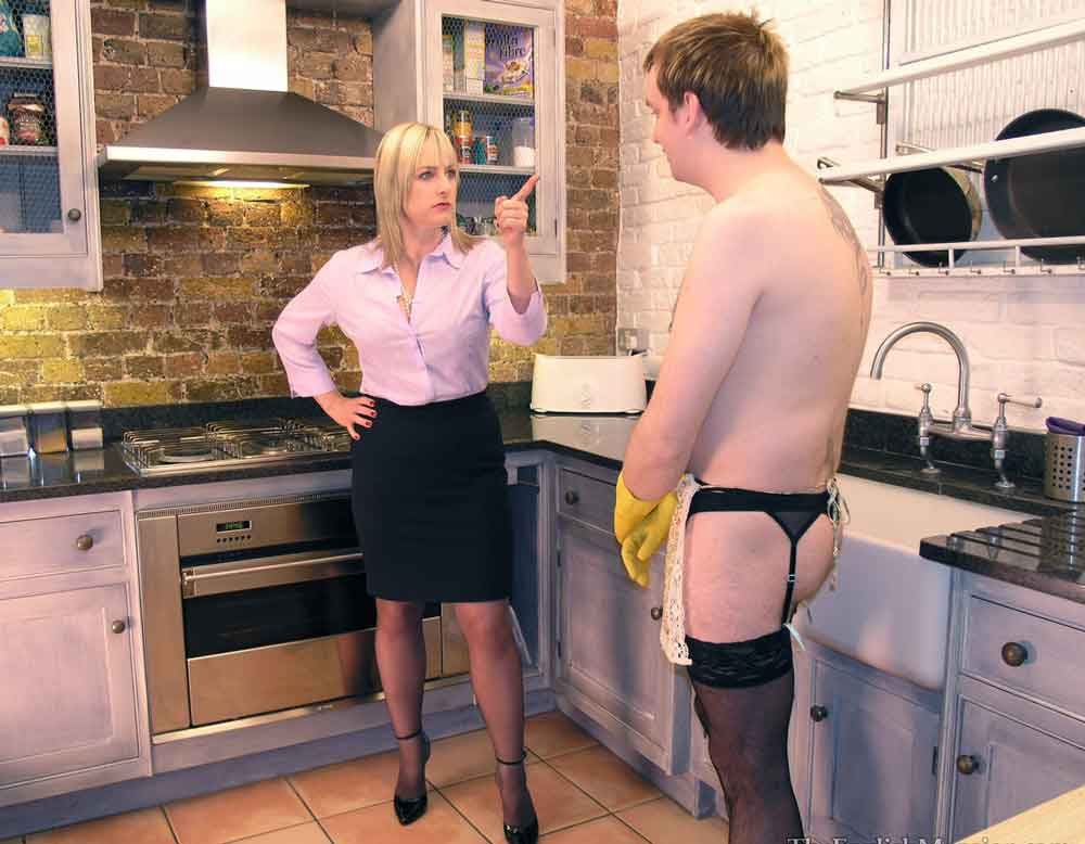 a mistress instructing a slave in the kitchen