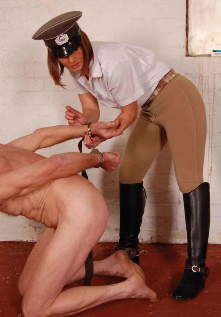 a prison guard abusing a prisoner