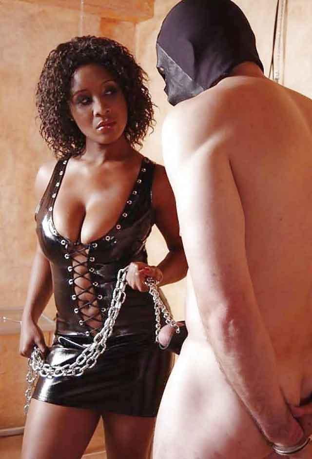 a mistress holding a slave