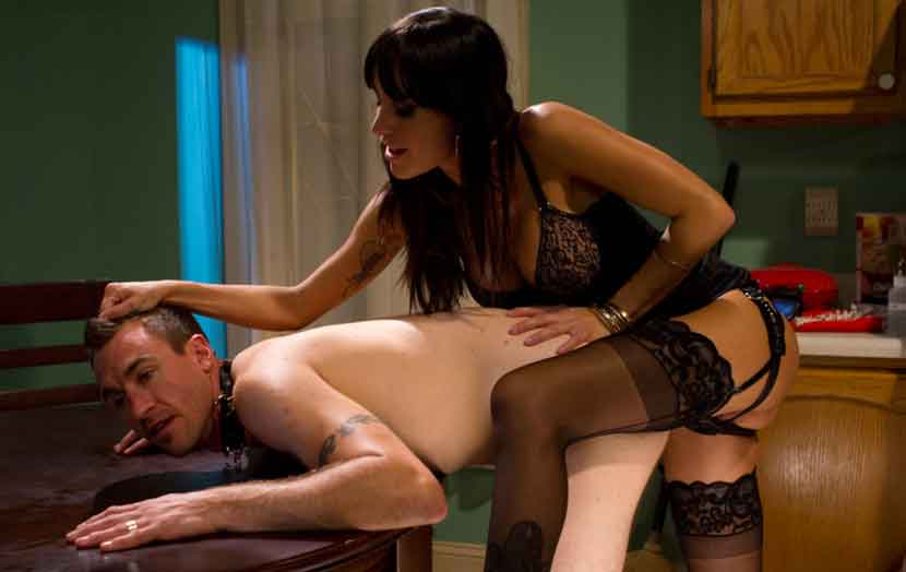 a mistress taking a slave on table