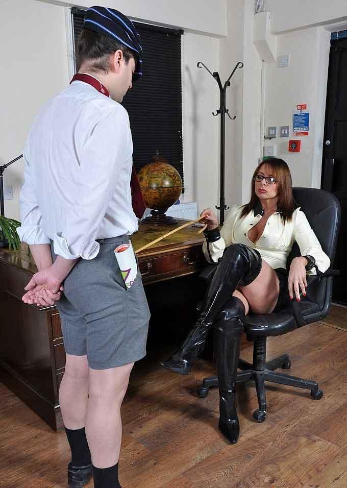 a  mistress talks to a schoolboy