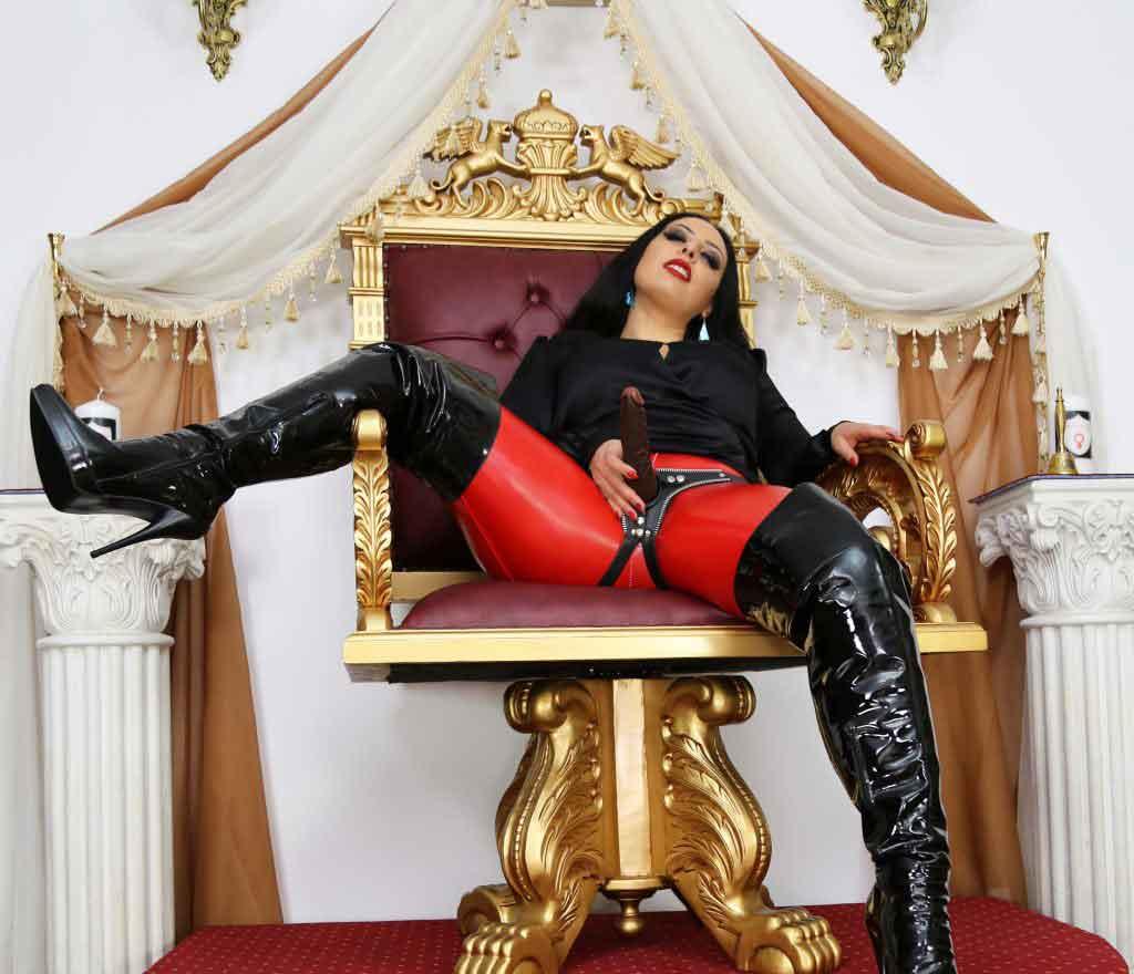 a mistress on a throne