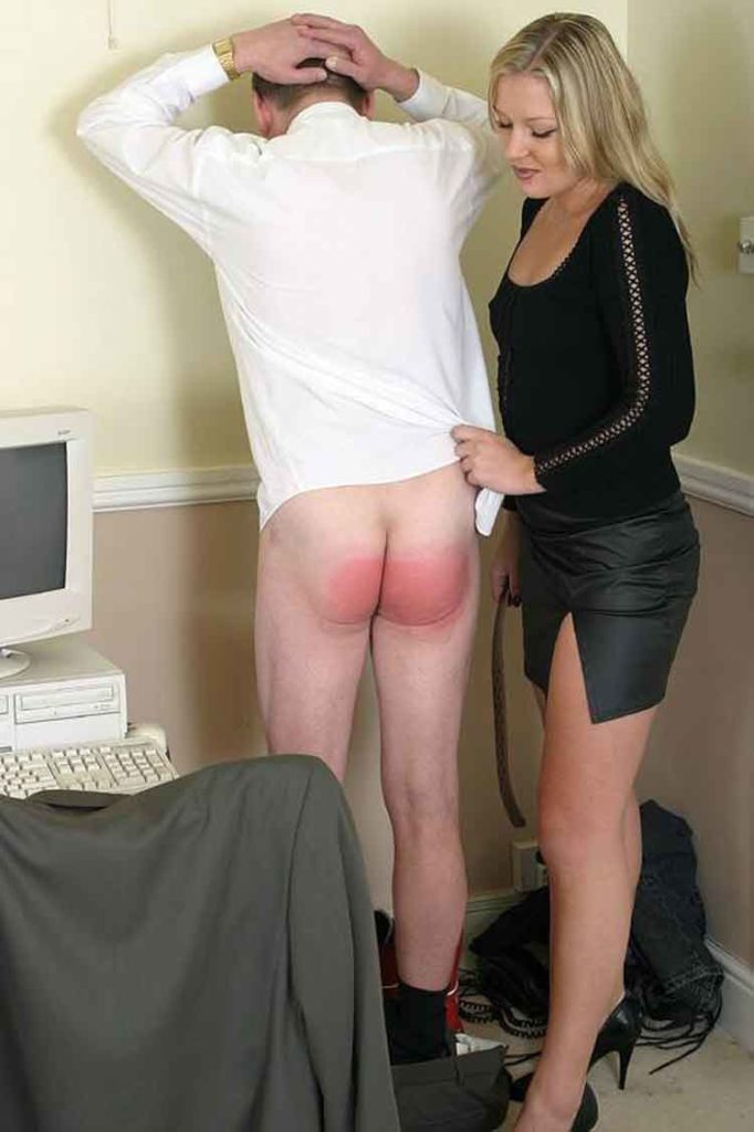 a mistress in the middle of a spanking
