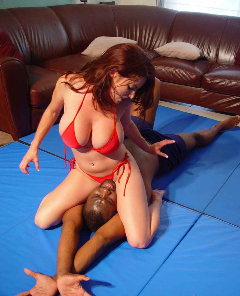 a mistress facesitting on her sub