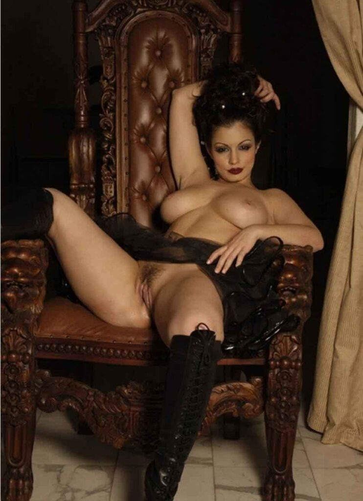 a queen mistress on her throne
