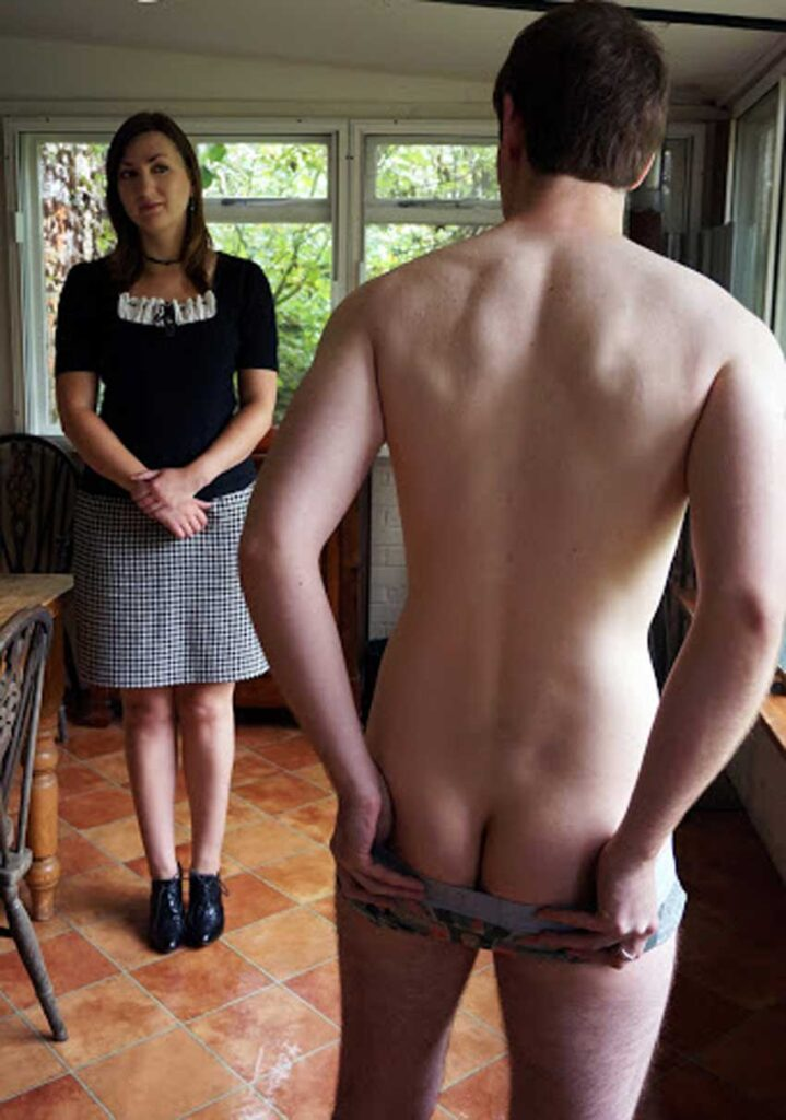 a mistress watching cleaining