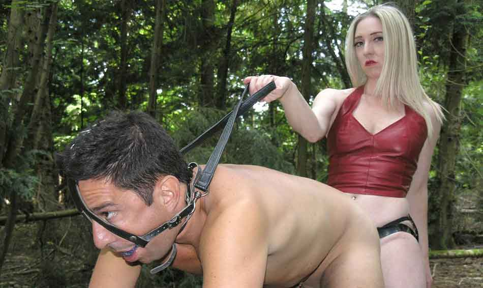 a mistress with a collared sub