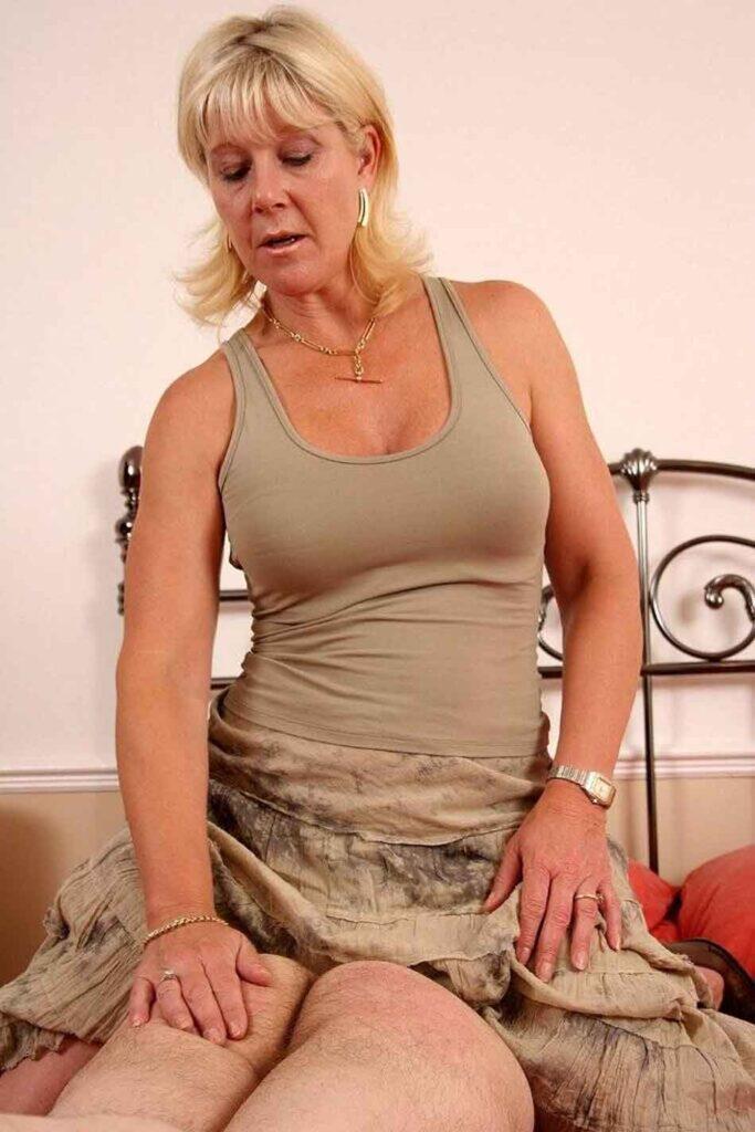 a mistress preparing a spanking