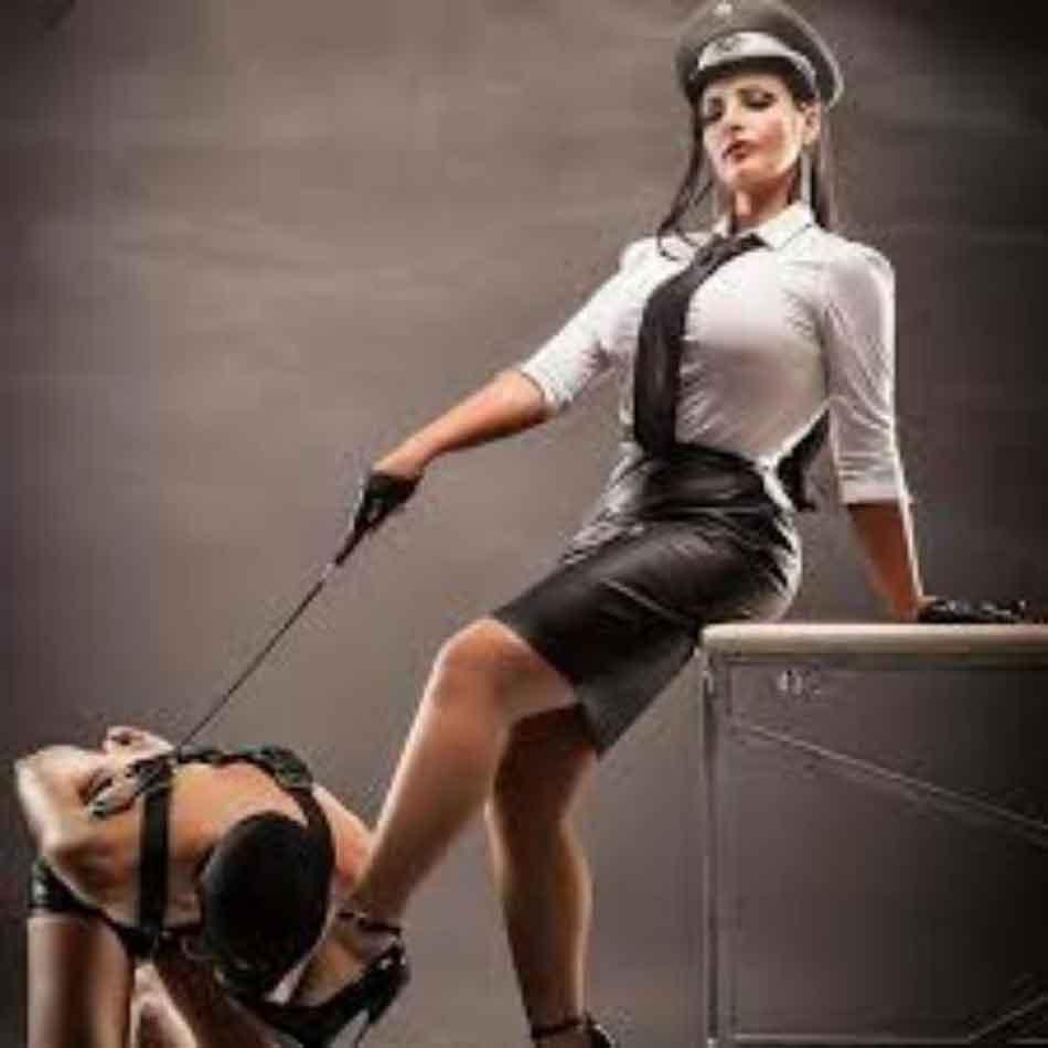 a sexy mistress as a prison guard