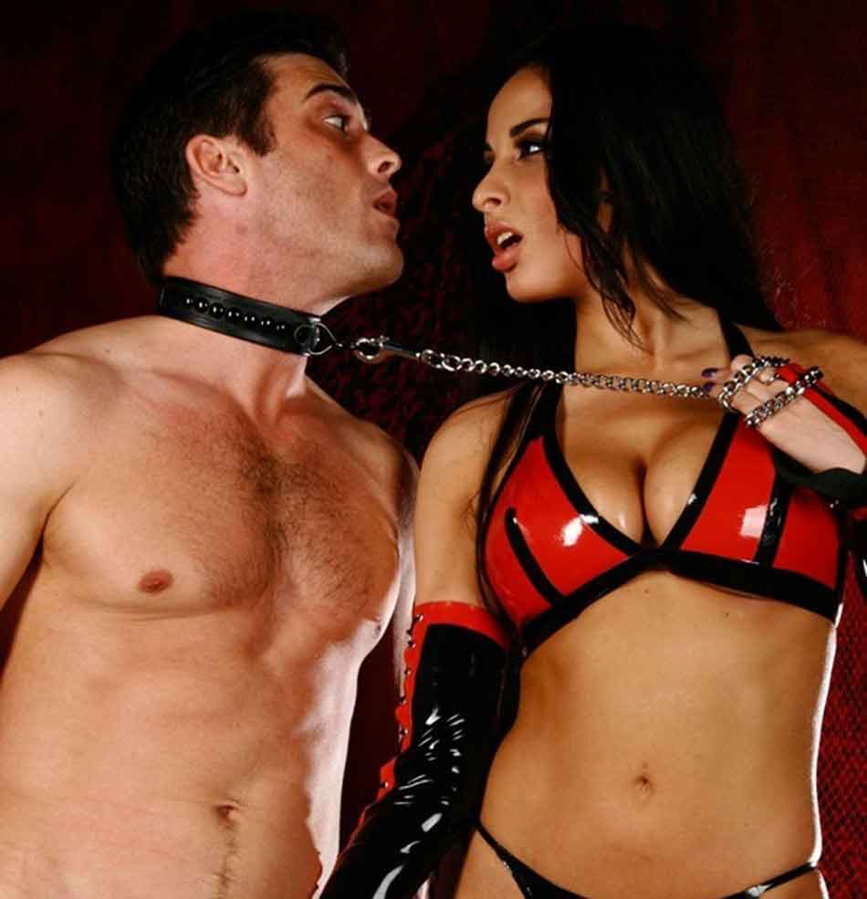 a mistress collaring her submissive