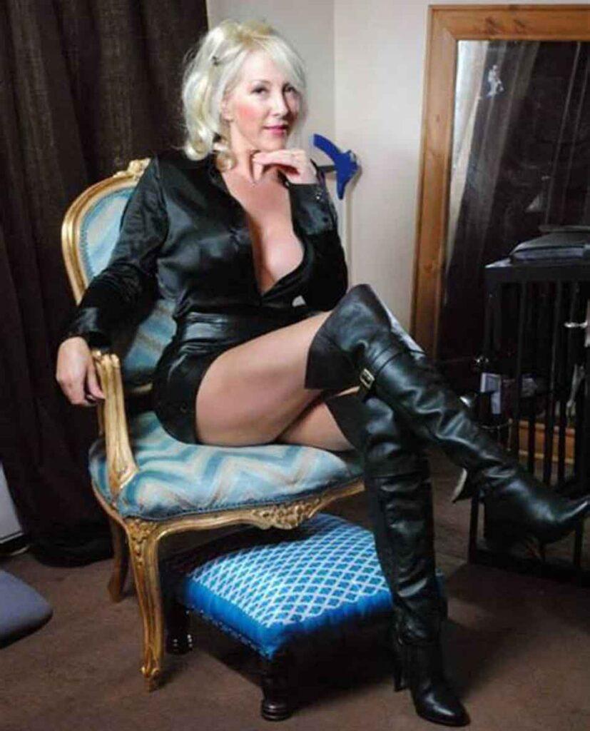 a blonde mistress