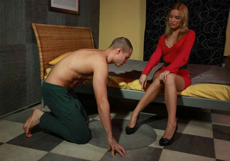 a dominant female commands a man